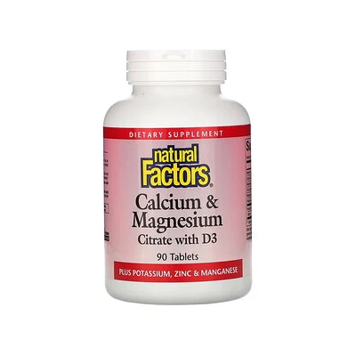 Natural Factors Calcium Magnesium Citrate Vitamin D, 90 таблеток