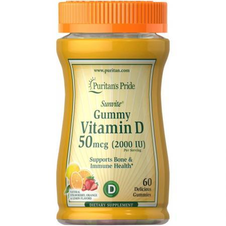 Puritan's Pride Vitamin D3 10000 IU, 60 желеек