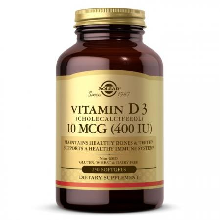 Solgar Vitamin D3 10 mcg, 250 капсул
