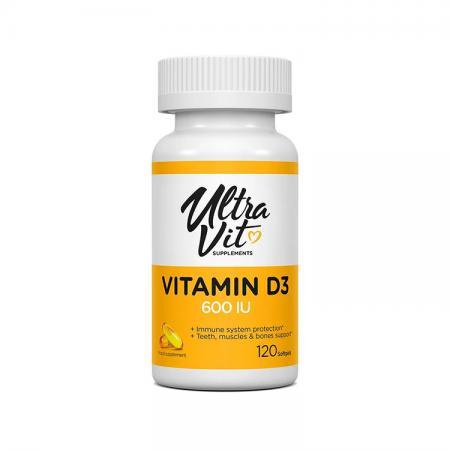VPLab UltraVit Vitamin D 600 IU, 120 капсул