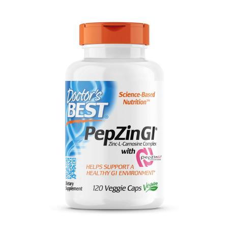 Doctor's Best PepZin Gl, 120 вегакапсул