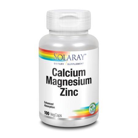 Solaray Calcium Magnesium Zinc, 250 вегакапсул