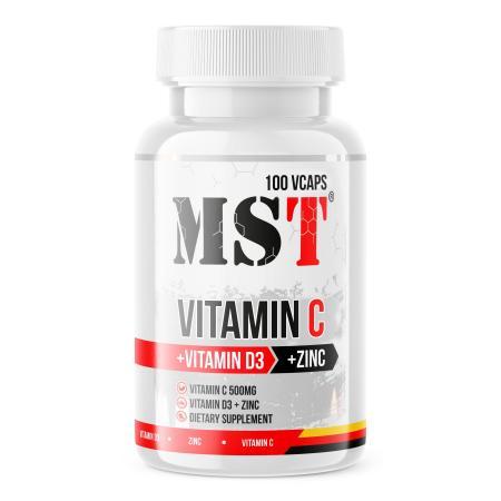 MST Vitamin C + D3 + Zink, 100 вегакапсул