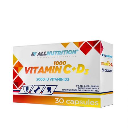 AllNutrition Vitamin C + D3, 30 капсул