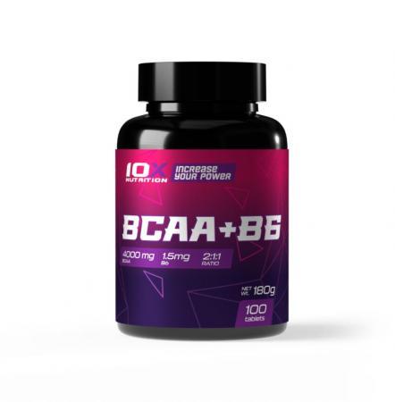10XNutrition BCAA + B6, 100 таблеток