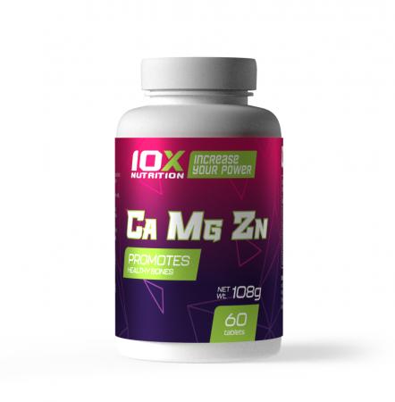 10X Nutrition Ca-Mg-Zn,  60 таблеток