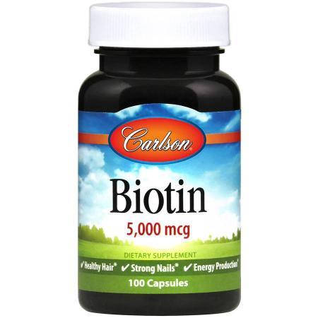 Carlson Labs Biotin 5000 mcg, 100 капсул