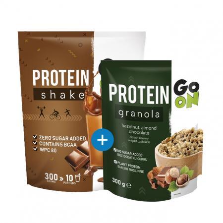 GoOn Protein Shake, 300 грамм + GoOn Protein Granola, 300 грамм, SALE