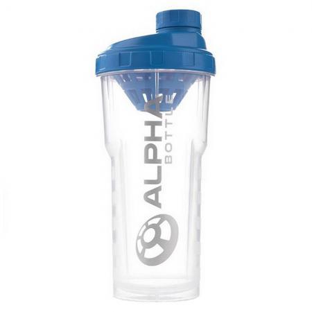 Alpha Designs Alpha Boottle, 750 мл - прозрачный с синей крышкой