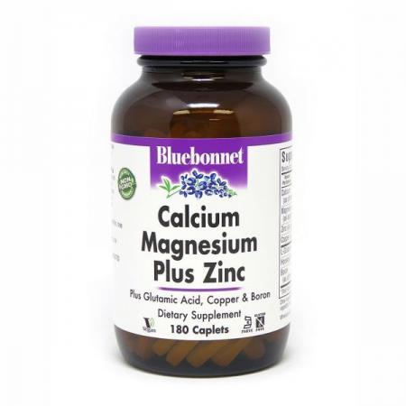Bluebonnet Calcium Magnesium plus Zinc, 180 каплет