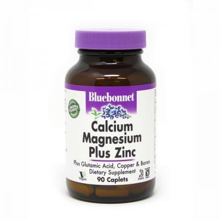 Bluebonnet Calcium Magnesium plus Zinc, 90 каплет