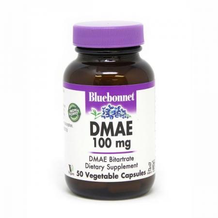 Bluebonnet DMAE 100 mg, 50 вегакапсул