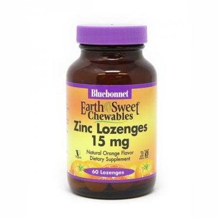 Bluebonnet Earth Sweet Chewables Zinc, 60 леденцов - апельсин