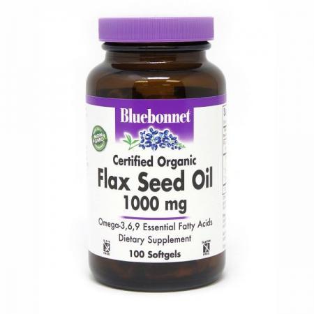 Bluebonnet Flax Seed Oil 1000 mg, 100 капсул