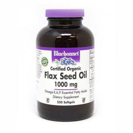 Bluebonnet Nutrition Flax Seed Oil 1000 mg, 250 капсул