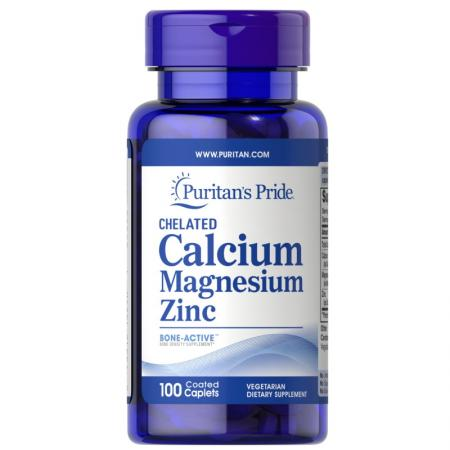Puritan's Pride Calcium Magnesium Zinc, 100 капсул