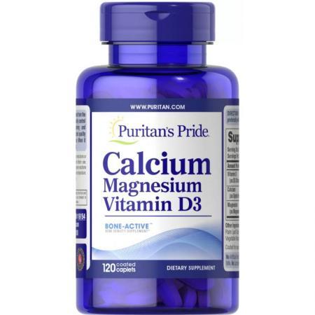 Puritan's Pride Calcium Magnesium with Vitamin D, 100 капсул