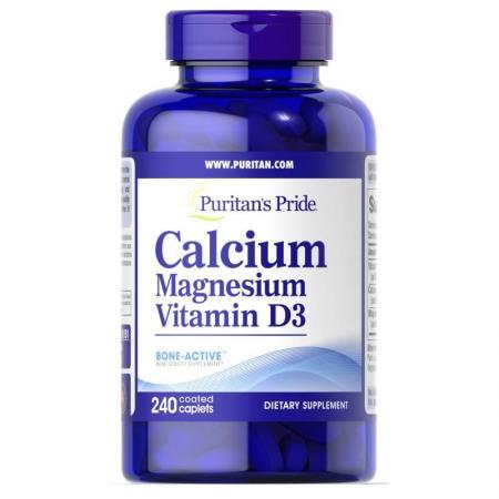 Puritan's Pride Calcium Magnesium Vitamin D3, 240 каплет