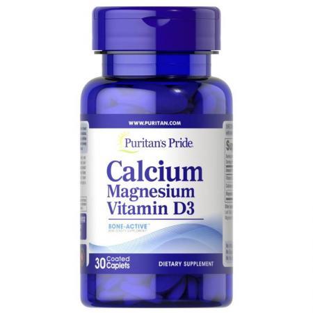 Puritan's Pride Calcium Magnesium Vitamin D3, 30 каплет