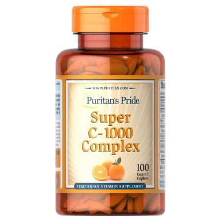 Puritan's Pride Vitamin C-1000 mg Complex, 100 каплет