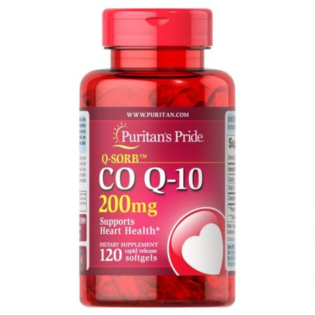 Puritan's Pride CO Q10 200 mg, 120 капсул