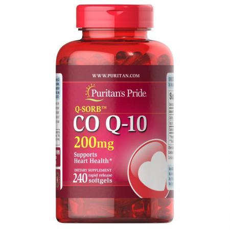 Puritan's Pride CO Q10 200 mg, 240 капсул