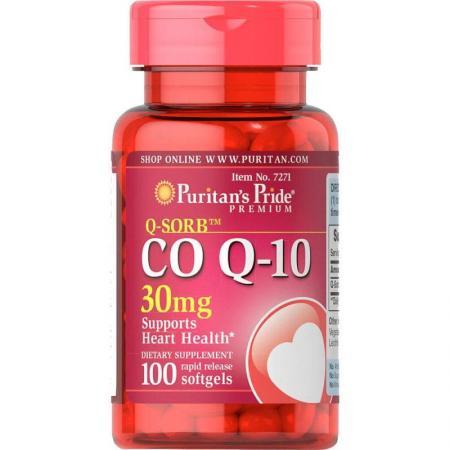 Puritan's Pride CO Q10 30 mg, 100 капсул