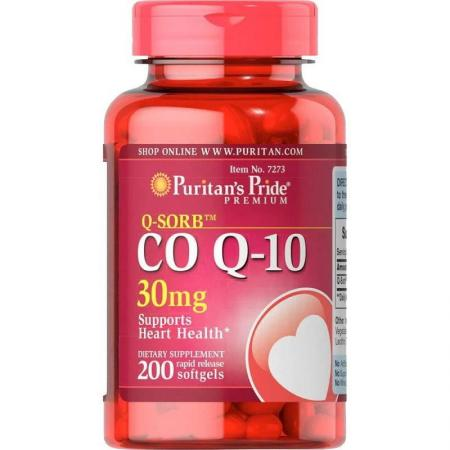 Puritan's Pride CO Q10 30 mg, 200 капсул