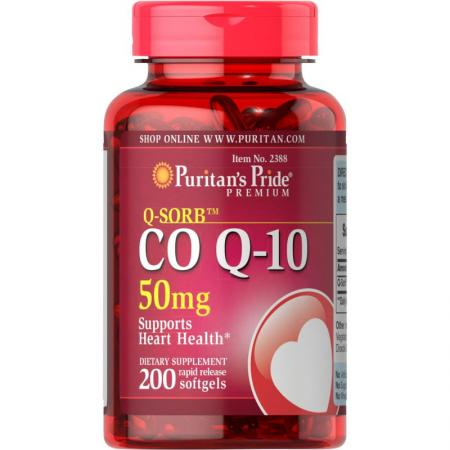 Puritan's Pride CO Q10 50 mg, 200 капсул