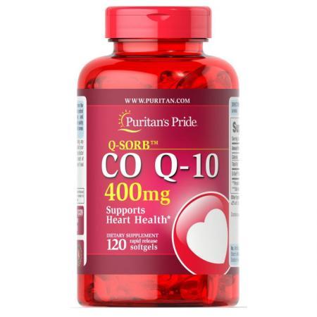 Puritan's Pride CO Q10 400 mg, 120 капсул