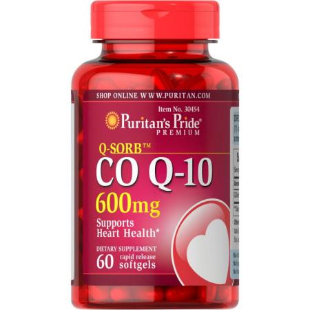 Puritan's Pride CO Q10 600 mg, 60 капсул
