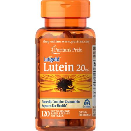 Puritan's Pride Lutein 20 mg with Zeaxanthin, 120 капсул