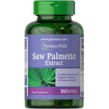 Puritan's Pride Saw Palmetto Extract, 180 капсул