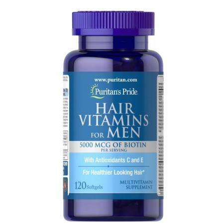 Puritan's Pride Men's Hair Vitamins, 120 капсул