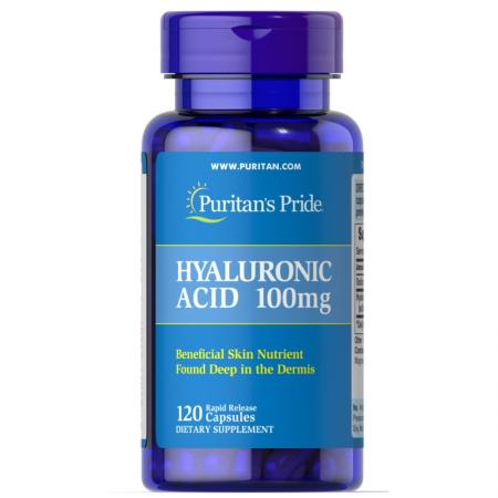 Puritan's Pride Hyaluronic Acid 100 mg, 120 капсул