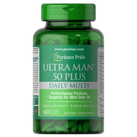 Puritan's Pride Ultra Vita Man 50 Plus, 60 каплет