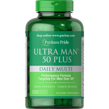 Puritan's Pride Ultra Vita Man 50 Plus, 120 каплет