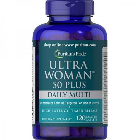Puritan's Pride Ultra Woman 50 Plus, 120 каплет