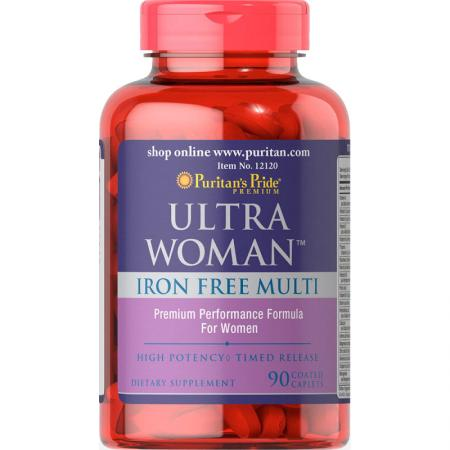 Puritan's Pride Ultra Woman Iron Free Multi, 90 каплет