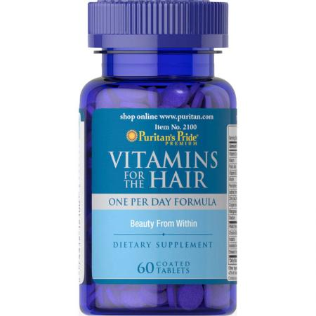 Puritan's Pride Vitamins for the Hair, 60 капсул