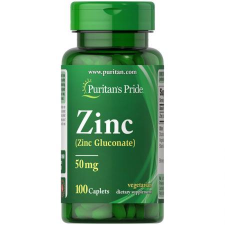 Puritan's Pride Zinc 50 mg, 100 каплет
