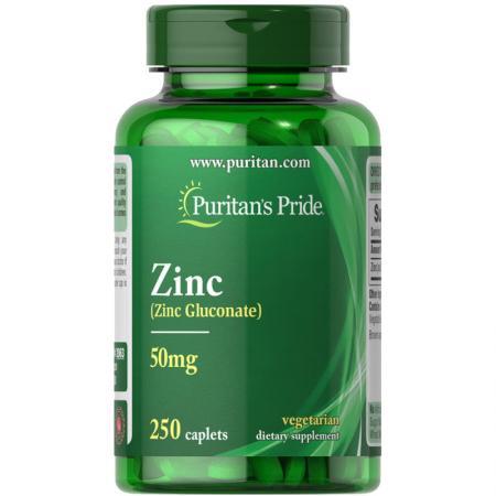 Puritan's Pride Zinc 50 mg, 250 каплет