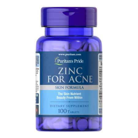 Puritan's Pride Zinc for Acne, 100 капсул