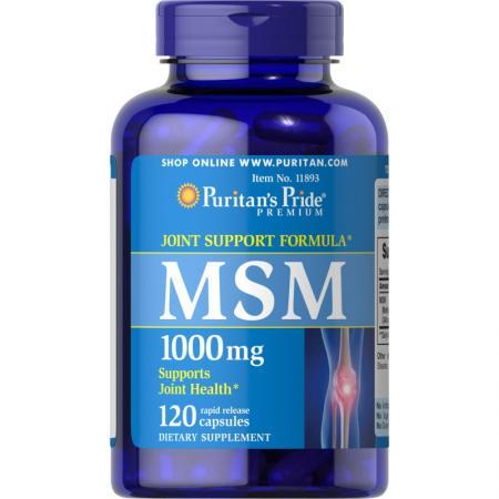 Puritan's Pride MSM 1000 mg, 120 капсул