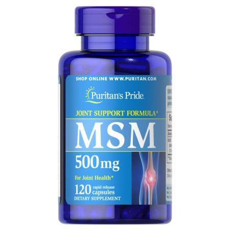Puritan's Pride MSM 500 mg, 120 капсул