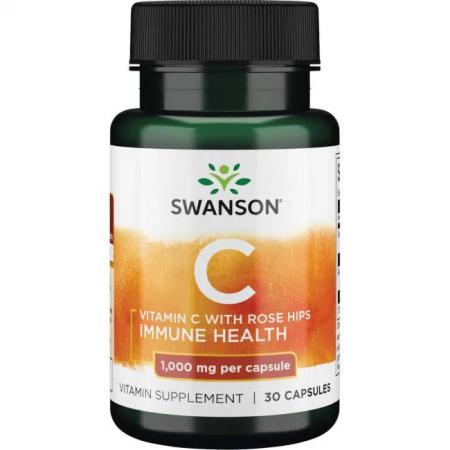 Swanson Vitamin C with Rose Hips 1000 mg, 30 капсул