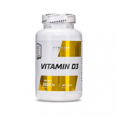 Progress Nutrition Vitamin D3, 60 таблеток