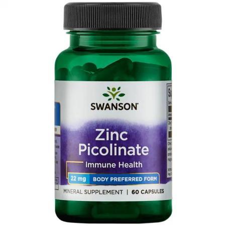 Swanson Zinc Picolinate 22 mg, 60 капсул