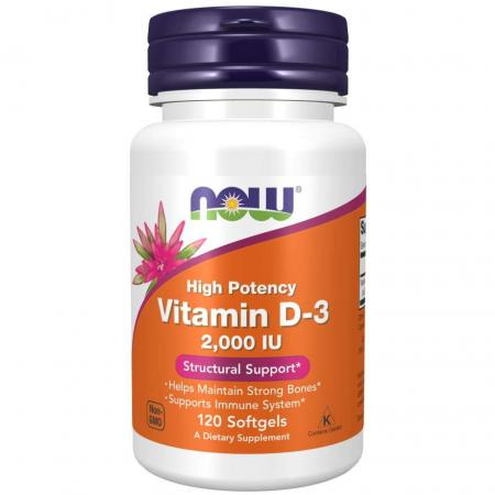 NOW Vitamin D3 2000 IU, 30 капсул