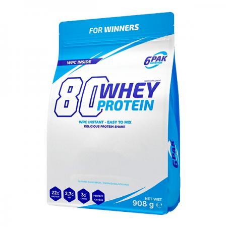 6PAK Nutrition 80 Whey Protein, 908 грамм